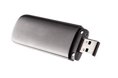 Black usb flash drive Royalty Free Stock Photos
