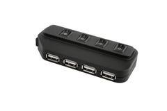 Black USB hub device Stock Images