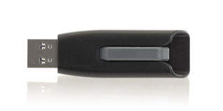 Black USB memory stick isolated Royalty Free Stock Image