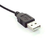 Black usb plugs  on a white background Stock Image