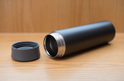 Black vacuum tumbler Royalty Free Stock Image
