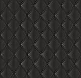 Black vadderat läder Arkivbild