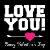 Black Valentines Day banner with typography design Stock Photo