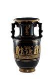 Black Vase. A black Greek vase isolated Royalty Free Stock Image