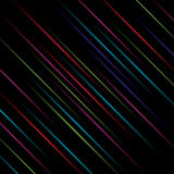Black vector background with color lines Royalty Free Stock Photos