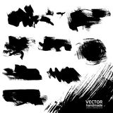 Black vector backgrounds set Royalty Free Stock Photography