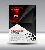 Black Vector brochure flyer magazine and leaflet design on polyg Stock Images