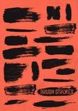 Black Vector Brush Strokes vector illustration