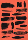 Black Vector Brush Strokes Royalty Free Stock Photo