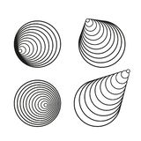 Black vector circle spiral creative design elements collection royalty free illustration
