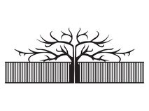 Vector black elegant fence illustration vector illustration