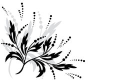 Black vector floral element for design Royalty Free Stock Image
