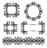 Black vector frames decoration Royalty Free Stock Photo