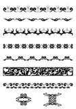 Black  vector geometrical design elements. Vector black geometrical design elements Royalty Free Stock Photography