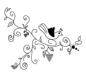 Black vector hand drawn flower. Black vector hand drawn doodle flower Royalty Free Stock Photo
