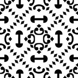 REPEAT PATTERN GEOMETRICAL BLACK AND WHITE Stock Photos