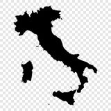 Black Vector Italy map Stock Image