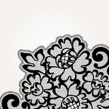 Black vector lace corner Royalty Free Stock Photography