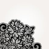 Black vector lace corner Stock Images