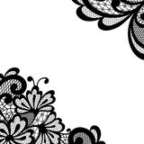 Black vector lace corner Royalty Free Stock Photo