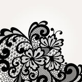Black vector lace corner Stock Photo