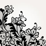 Black vector lace Royalty Free Stock Images