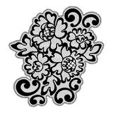 Black vector lace ornament Royalty Free Stock Images