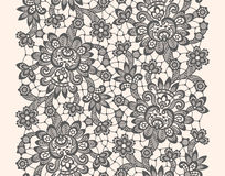 Black Vector Lace. Seamless Pattern. Pastel  Background Royalty Free Stock Photo
