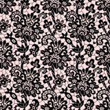 Black Vector Lace. Seamless Pattern. Stock Photos