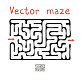 Black vector maze Royalty Free Stock Photography