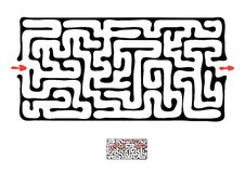 Black vector maze Royalty Free Stock Photos