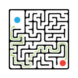 Black vector maze Royalty Free Stock Images