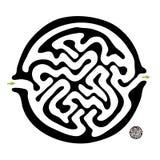 Black vector maze Stock Image