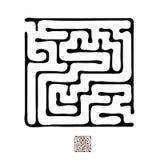 Black vector maze Royalty Free Stock Image
