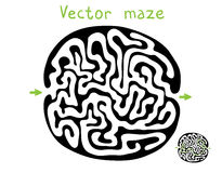 Black vector maze Stock Photography
