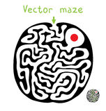 Black vector maze Stock Photos