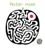 Black vector maze Stock Photos