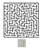 Black vector maze Stock Image
