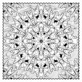 Black vector mono color illustration.Adult Coloring book page design. For adults or kids. Vector template.Ornamental border and frame Stock Photos