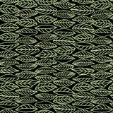Black pattern with line art leaves. stock photos