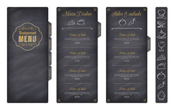 Black Vector Restaurant Menu Template royalty free stock photography