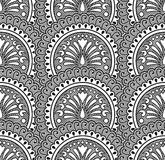 Black vector seamless wallpaper Royalty Free Stock Photos