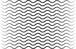 Black vector seamless wavy line pattern Royalty Free Stock Photos
