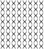 Black vector seamless wavy line pattern vector illustration