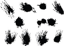 These are black vector splats Stock Photos