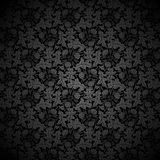 Black vector background Floral Pattern Royalty Free Stock Photo