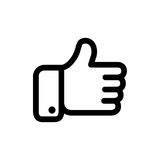 Black vector thumbs icon Stock Images