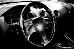 Black Vehicle Interior Royalty Free Stock Photo