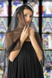 Black veil Royalty Free Stock Photo