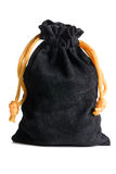 Black velvet bag Royalty Free Stock Photo